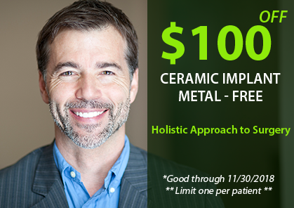 Cleveland Center for Integrative Dentistry $400 OFF ALL-CERAMIC DENTAL IMPLANTS Offer