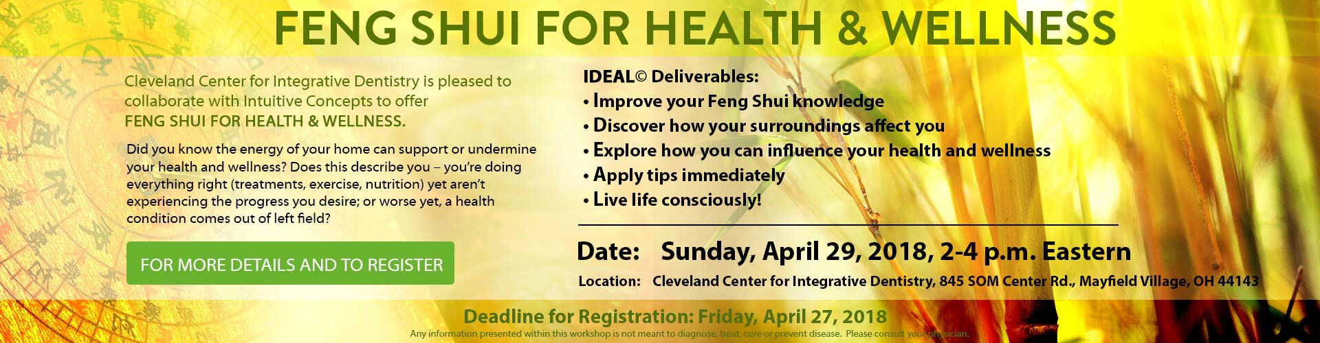 offer Feng Shui for Health & Wellness